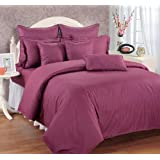 Swayam Sonata Jazz Cotton Extra Large Bedsheet Set - King Size, Wine (JAZZ XL-WINE)