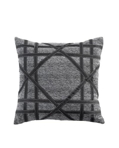 Lace Mace Pillow, Black/Grey, 18 x 18