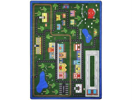 "Joy Carpets Kid Essentials Active Play & Juvenile Tiny Town Rug, Multicolored, 10'9"" x 13'2"""