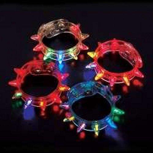 Flashing Spike Bracelets - 12 per unit by Rhode Island Novelty