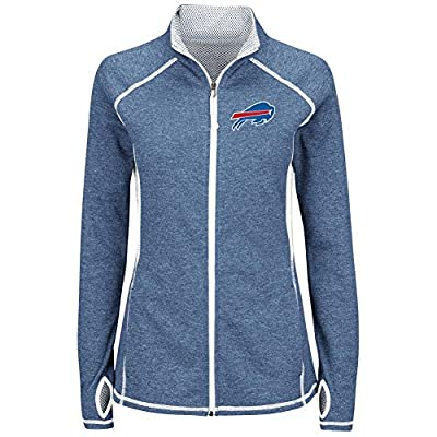 "Buffalo Bills Women's Majestic NFL ""Club Pass"" Full Zip Sweatshirt"
