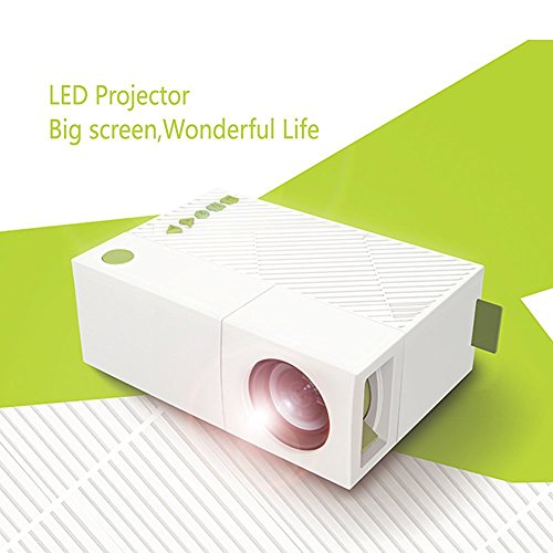 Great Deal! WEILIANTE Mini LED HD Projector Home Theatre Cinema Video Projector Connection with Ipho...