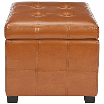 Peachy Safavieh Hudson Collection Noho Tufted Saddle Leather Square Squirreltailoven Fun Painted Chair Ideas Images Squirreltailovenorg