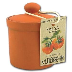 Terracotta Salsa Dip Mix with Storage Pot by Gourmet du Village