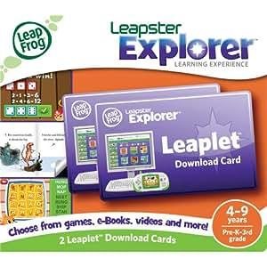 LeapFrog  Leapster Explorer Leaplet Download Cards (set of 2)