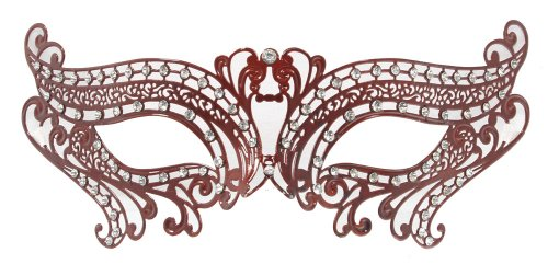 RedSkyTrader Womens Laser Cut Masquerade Party Mask