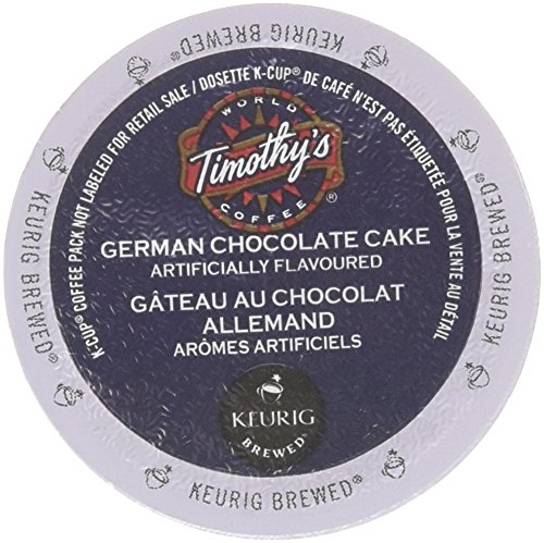 48 Count - Timothy's German Chocolate Cake Flavored Coffee K-Cup For Keurig Brewers (German Chocolate Cake Kcup compare prices)