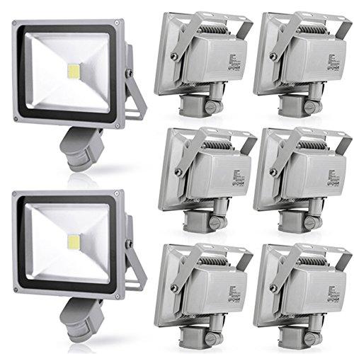 Generic 8Pcs 30W Cool White Led Induction Lamp Pir Motion Sensor Ip65 Outdoor Floodlight 85-265V