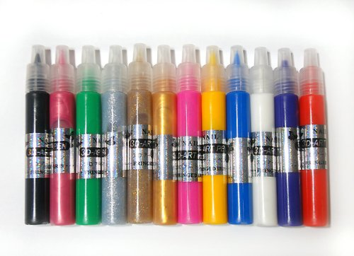 3Dアートペン12色セット もこもこネイルアートが簡単に ネイルパーツ