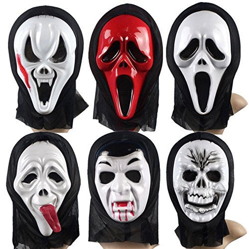 Gurteen Halloween Costume Mask Masquerade Party Face Creepy Scary Horror Grimace Mask