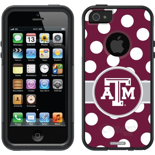 Best Texas A&M University – Polka Dots design on a Black OtterBox® Commuter Series® Case for iPhone 5s / 5 website