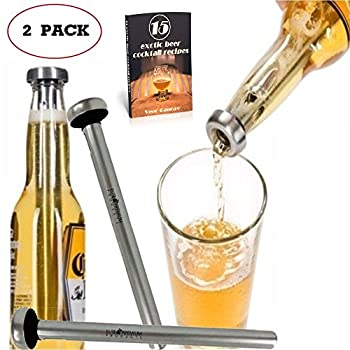Elite Premium Products High Quality Beer Chiller Sticks, 2 Pack and 15 Exotic Cocktail Recipes Ebook by Elite Premium Products