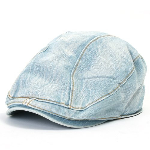 ililily Denim Newsboy Flat Cap Gatsby Caps ivy Irish Cabbie Hats Driver Hunting Hat (flatcap-514-2) Reviews