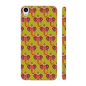 Enthopia Designer Hardshell Case Indian Elephant Back Cover for HTC Desire 728