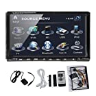 In Dash 2 Two Double Din 7Car DVD Player Stereo Radio Audio Motorized Touchscreen LCD Monitor with DVD/CD/MP3/MP4/USB/SD/AMFM/RDS/Bluetooth and HD:800*480 LCD