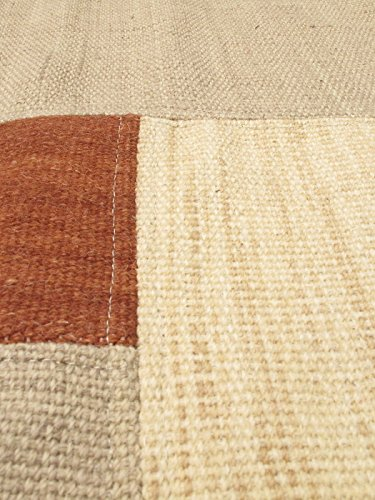 New Turkish Moldovia Patch Style Khaki Kilim 4'7