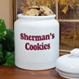 "Any Message Personalized Ceramic Cookie Jar, 10"", Air-Tight Ceramic Lid"