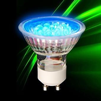 s luce eco gu10 230v led leuchtmittel 1 2w blau led gu10 bl beleuchtung. Black Bedroom Furniture Sets. Home Design Ideas