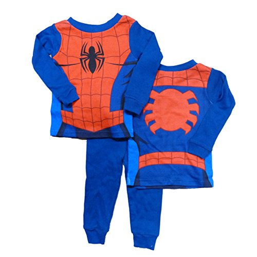 Marvel Comics Spiderman Infant Boys Reversible Sleepwear Set Spider Man Pajamas