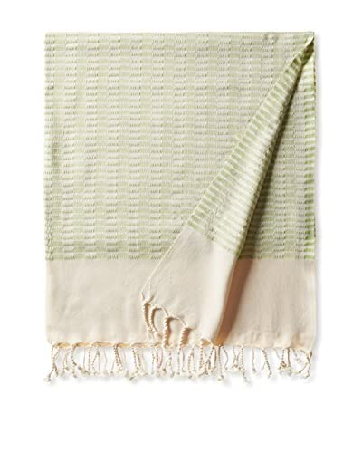 Nomadic Thread Turkish Towel Chic, Natural/Green