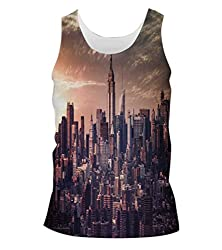 Snoogg Pin Point Building Mens Casual Beach Fitness Vests Tank Tops Sleeveless T shirts