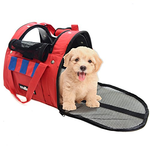 Milliard Backpack Pet Carrier to Carry Small Dogs or Cats, 3 Mesh Zippered Entrances