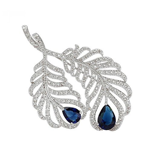 beydodo-white-gold-plated-brooch-pin-for-women-feather-plume-blue-aaa-cubic-zirconia-water-drop-shap