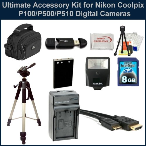 Ultimate Accessory Kit for Nikon Coolpix P100/P500/P510 Digital Cameras