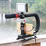 Triple 3 Shoe Mounts Video Action Stabilizing Handle Grip Rig for iPhone 7 Plus Canon Nikon Sony DSLR Camera / Camcorder