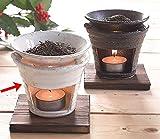 茶香炉 白萩 +キャンドル3個追加セット