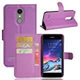 Aobiny Flip Magnetic Card Wallet Leather Cell Phone Case Stand Mobile Cover For LG Aristo LV3 V3 MS210 LG M210 LG MS210 LG K8 K4 2017 (Purple)