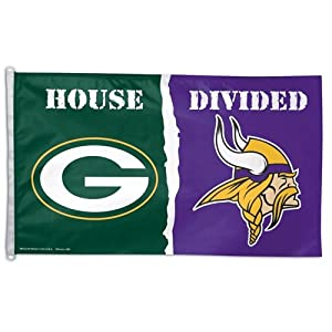 Green Bay Packers vs. Minnesota Vikings House Divided Flag by WinCraft