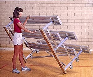 15 Tip N Roll Portable Indoor Outdoor Bleachers 3 Rows by Gared Sports