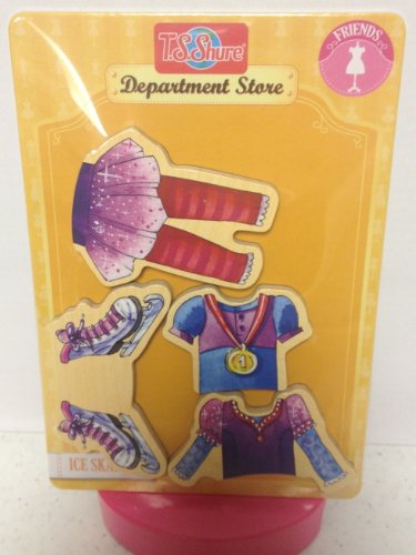 T.S. Shure Magnetic Wooden Dress-Up Clothes- Ice Skating Large Doll Clothes - 1