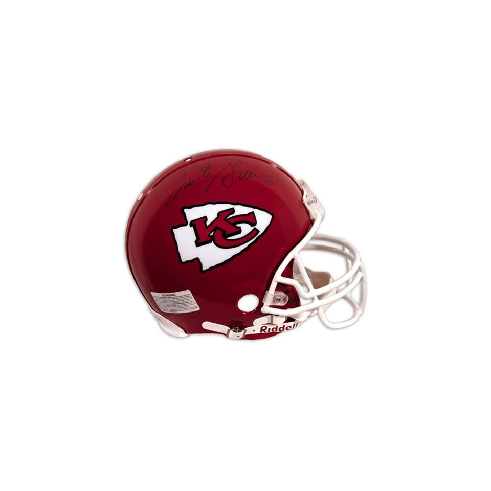 Trent Green Autographed Pro Line Helmet  Details Kansas City Chiefs, Authentic Riddell Helmet