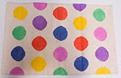 Bandbox Multi Polka Rug - Multi Color (Size-- 36 in. x 24 in.)