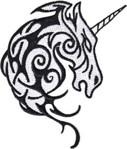 Application Unicorn Tribal Head Patch