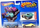 Hot Wheels - Colour Shifters - 2 Pack Vehicle Set - Zombot & Super Stinger with Lenticular Card - V1060