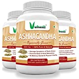 Vubasil Ashwagandha - 800Mg - General Wellness Herbs 60 Veg Capsules (Pack Of 3)