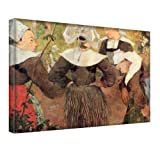 """the dance of 4 women of breton"" by gauguin, stampa artistica da parete/tela moderna. dimensioni 20'' x 28'' -..."