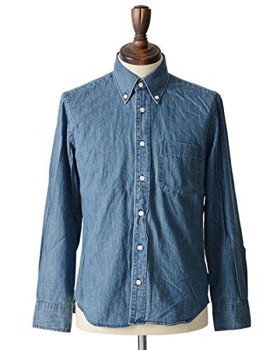 (マニュアルアルファベット) MANUAL ALPHABET デニム ベーシック 長袖 ボタンダウンシャツ・basic-mk-022【全3色】【ラッピング可】【即発送可】【Men's】