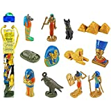 Safari Ltd Ancient Egypt TOOB, With 12 Historical Toy Figurines Including Nefertiti, Bastet, King Tutankhamen, Isis, Amulet, Mummy Case, Scarab, Pyramids of Giza, Sphinx, Thoth, Anubis and Hieroglyph