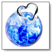 Heart Bud Vase, Hand-Blown Glass Cobalt Blue