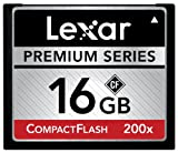 Lexar Premium 16GB 200x 30MB/s High Speed CompactFlash Memory Card