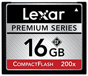 Lexar Premium 16GB 200x 30MB/s High Speed CompactFlash Memory Card