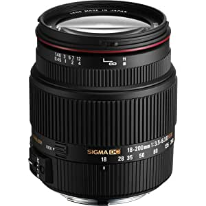 Sigma Objectif 18-200 mm F3,5-6,3 DC OS HSM II - Monture Canon