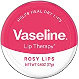 Vaseline Lip Therapy Lip Balm Tin, Rosy Lips, 0.6 Ounce (Pack Of 2)