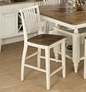 Jofran Vintage White Bradford Counter Height Stool