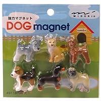 ミドリ OJ ミニマグネット(6個入) 犬
