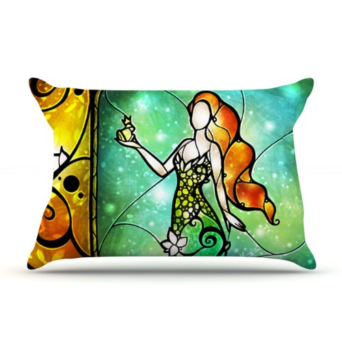 Kess Inhouse Mandie Manzano Fairy Tale Frog Princess 36 By 20-Inch Pillow Case, King front-990574